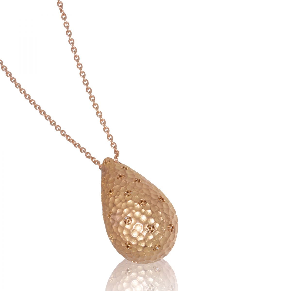 hammered pendant w sparse stones with chain pendants
