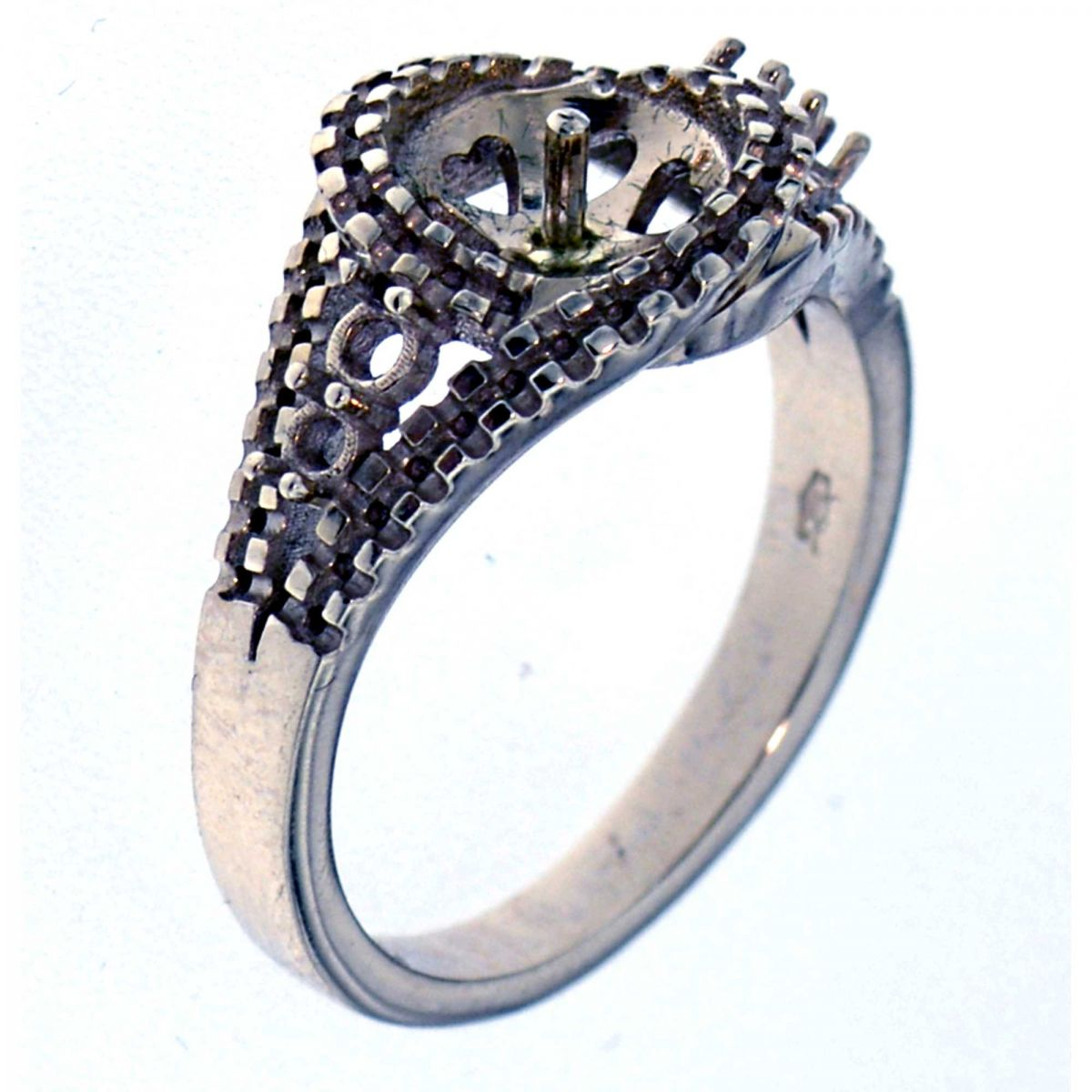 prongs ring with pearl pearls ring mountings product. Black Bedroom Furniture Sets. Home Design Ideas